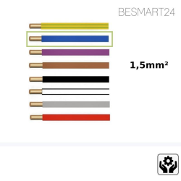 BESMART24 - Aderleitung flexibel H07V-K - 1,5mm² - blau - Zubehör