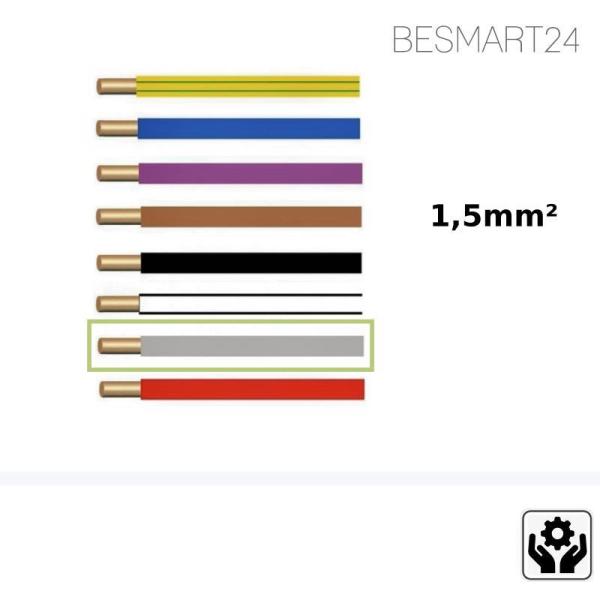 BESMART24 - Aderleitung flexibel H07V-K - 1,5mm² - grau - Zubehör