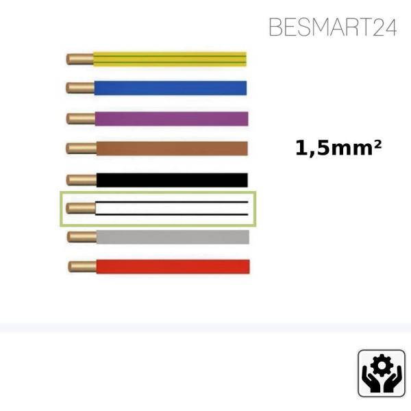 BESMART24 - Aderleitung flexibel H07V-K - 1,5mm² - weiß - Zubehör
