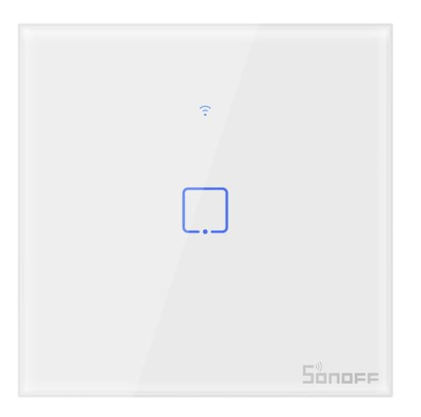 Sonoff - Smart Wall Switch T1EU1C-TX / 1-fach Taster - weiß - WLAN / 433MHz