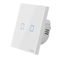 Sonoff - Smart Wall Switch T1EU2C-TX / 2-fach Taster - weiß - WLAN / 433MHz