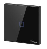 Sonoff - Smart Wall Switch T3EU1C-TX / 1-fach Taster - schwarz - WLAN / 433MHz