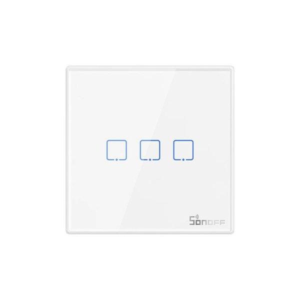 Sonoff - Smart Wall Switch T2EU3C-RF / 3-fach Taster - weiß - 433MHz