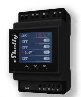 Shelly - Shelly 4PRO PM 4-Fach Relais  - WLAN / Bluetooth