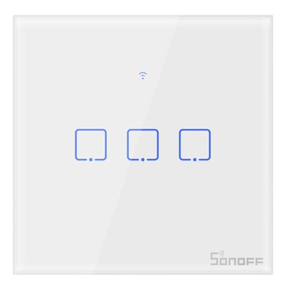 Sonoff - Smart Wall Switch T0EU3C-TX / 3-fach Taster - weiß - WLAN