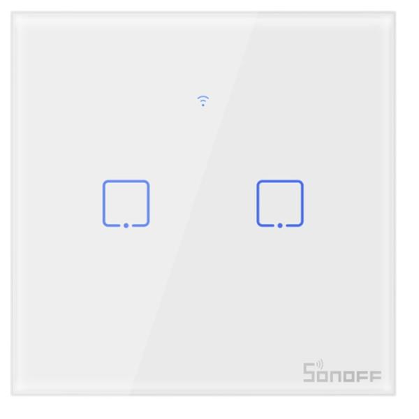 Sonoff - Smart Wall Switch T0EU2C-TX / 2-fach Taster - weiß - WLAN