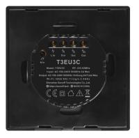 Sonoff - Smart Wall Switch T3EU3C-TX / 3-fach Taster - schwarz - WLAN / 433MHz