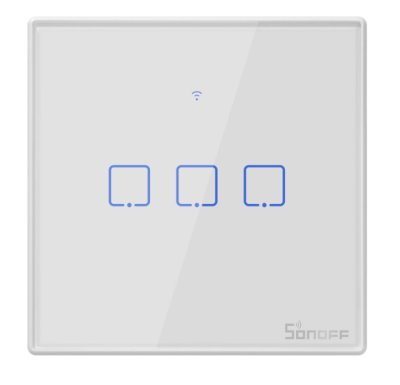 Sonoff - Smart Wall Switch T2EU3C-TX / 3-fach Taster - weiß - WiFi