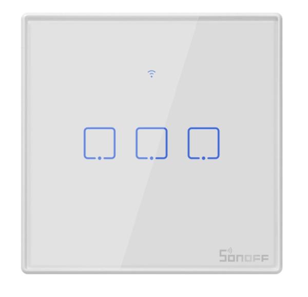 Sonoff - Smart Wall Switch T2EU3C-TX / 3-fach Taster - weiß - WLAN / 433MHz
